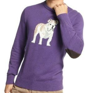 TOMMY HILFIGER Plum Royale Heather Bulldog Sweater